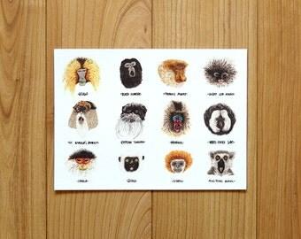 Primates #01 - A4 print