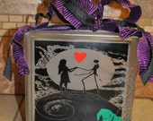 Nightmare Before Christmas Lighted Glass Block