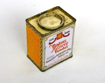 Original Indian Madras curry powder tin