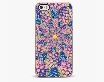 PINEAPPLE SPIRAL iPhone SE Case, iPhone 5s Case Apple iPhone se cover, iPhone 6s case, iPhone 7 plus case