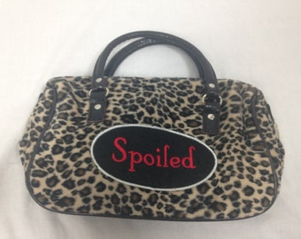 spoiled cheetah / leopard purse