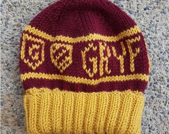 Gryffindor Hogwarts House Beanie -- Made to Order