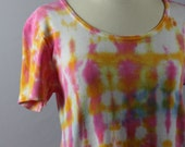 Drip Dyed OOAK 100% Casual Cotton Dress T Shirt