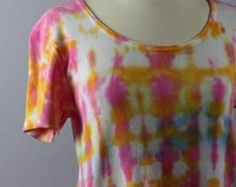 Drip Dyed OOAK 100% Casual Cotton Dress T Shirt