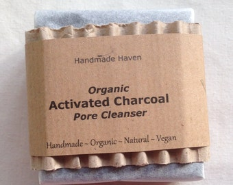 Organic Soap - Activated Charcoal - Vegan - Unscented - Pore Cleanser - Face Soap