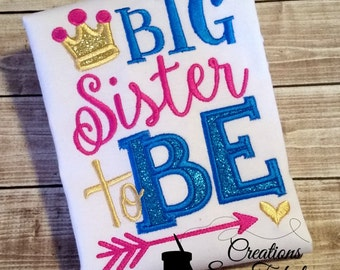 Big Sister To Be Shirt, Future Big Sister, Sibling Shirts, Girls Clothing, Tops, Only Child Expiring Shirt, New Baby Announcement