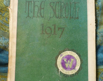 1917-The Scroll Yearbook for Washington High School,Milwaukee,Wi
