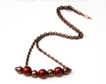 Red Jasper necklace, crystal necklaces, handmade necklaces, wire wrapped, womens necklaces,red jasper jewelry, jasper stones