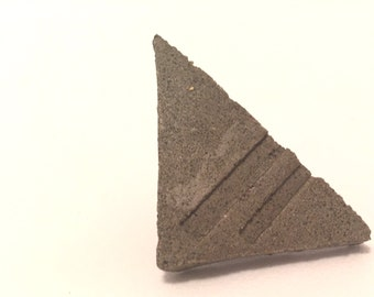 Triangle Brutalist Concrete Brooch