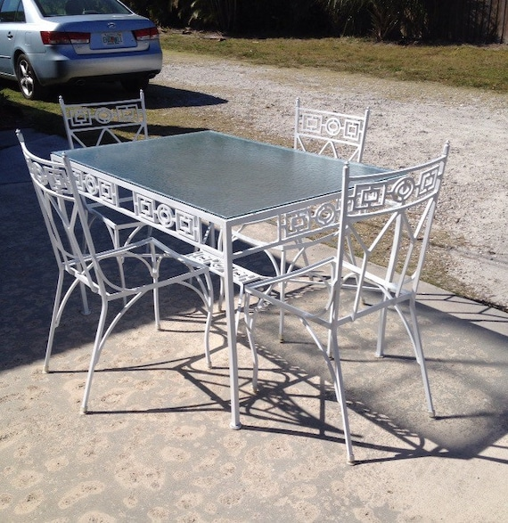 ALUMINUM PATIO GREEK Key Design Table Set