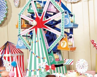 Ferris wheel centre piece, carnival party, circus theme party supplie, boys first birthday, candy table decorations, cupcake display