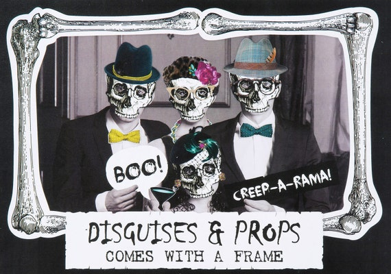 Halloween props ~ photo booth props ~ Halloween decorations ~ Skeleton photo backdrop ~ fall decorations ~ spooky party supplies