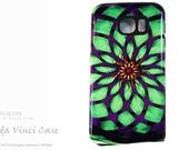 Kalotuscope - Abstract Galaxy S6 Case - Geometric Purple and Green Art - TOUGH dual layer S 6 Case by Da Vinci Case