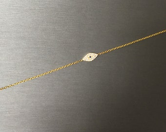 Modern Shiny Eye Bracelet-Gold