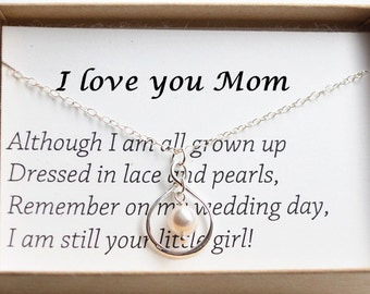 Mother Of The Bride Gift Necklace-Gift Boxed Jewelry Thank You Gift-Sterling silver infinity necklace-Mother's Day gift