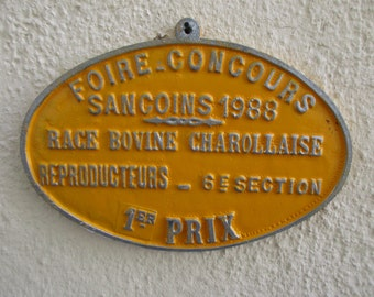 Selection of Vintage French Prize Plaques - 1980s - Agricultural Enamel Plaques - Bring the French Outdoors into your Home