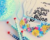 let your light shine Matthew 5.16 - set of 6 journaling - bible journaling cards