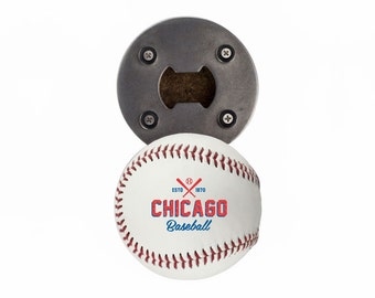 Chicago Cubs | Bottle Opener made from a Real Baseball | The BaseballOpener | Cubs | Cubs Baseball