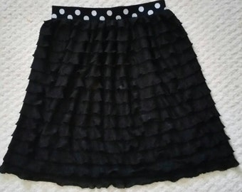 Girls Ruffle Knit Skirt
