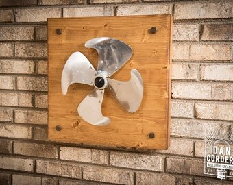 Vintage Fan Blade - Wooden Wall Decor - Medium