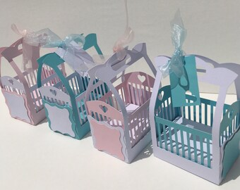 3D Baby Crib Candy Box / Expecting /Shower Baby Boy / Baby Girl