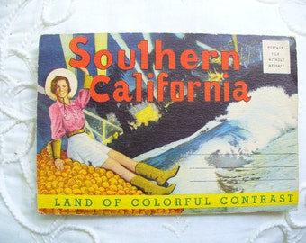 California Postcard folder