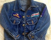 VTG Hollywood 57 Chevy Toddler Jean Patchwork Jacket