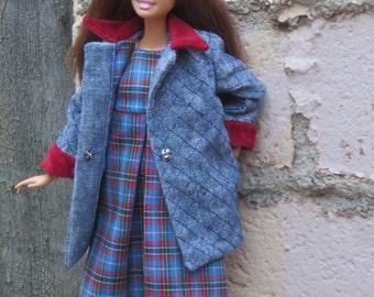 Autumn Walk coat and dress for Fashionista Barbie