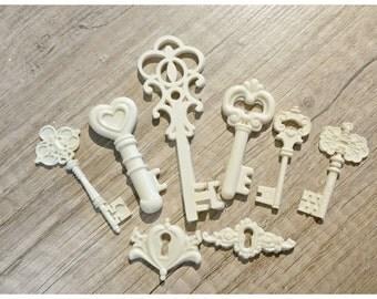 ornamental cameo resin keys