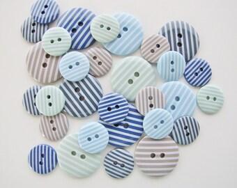 Set Adrift Candy Stripes Button Collection [B0757]