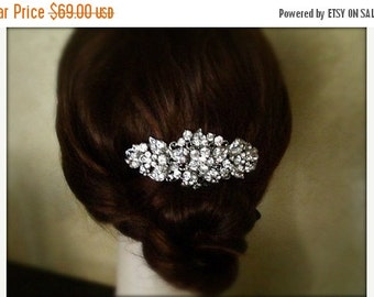 SALE - Vintage Inspired crystal Hair Comb, bridal hair comb, wedding hair accessories, bridal hair, rhinestone comb - Made to order