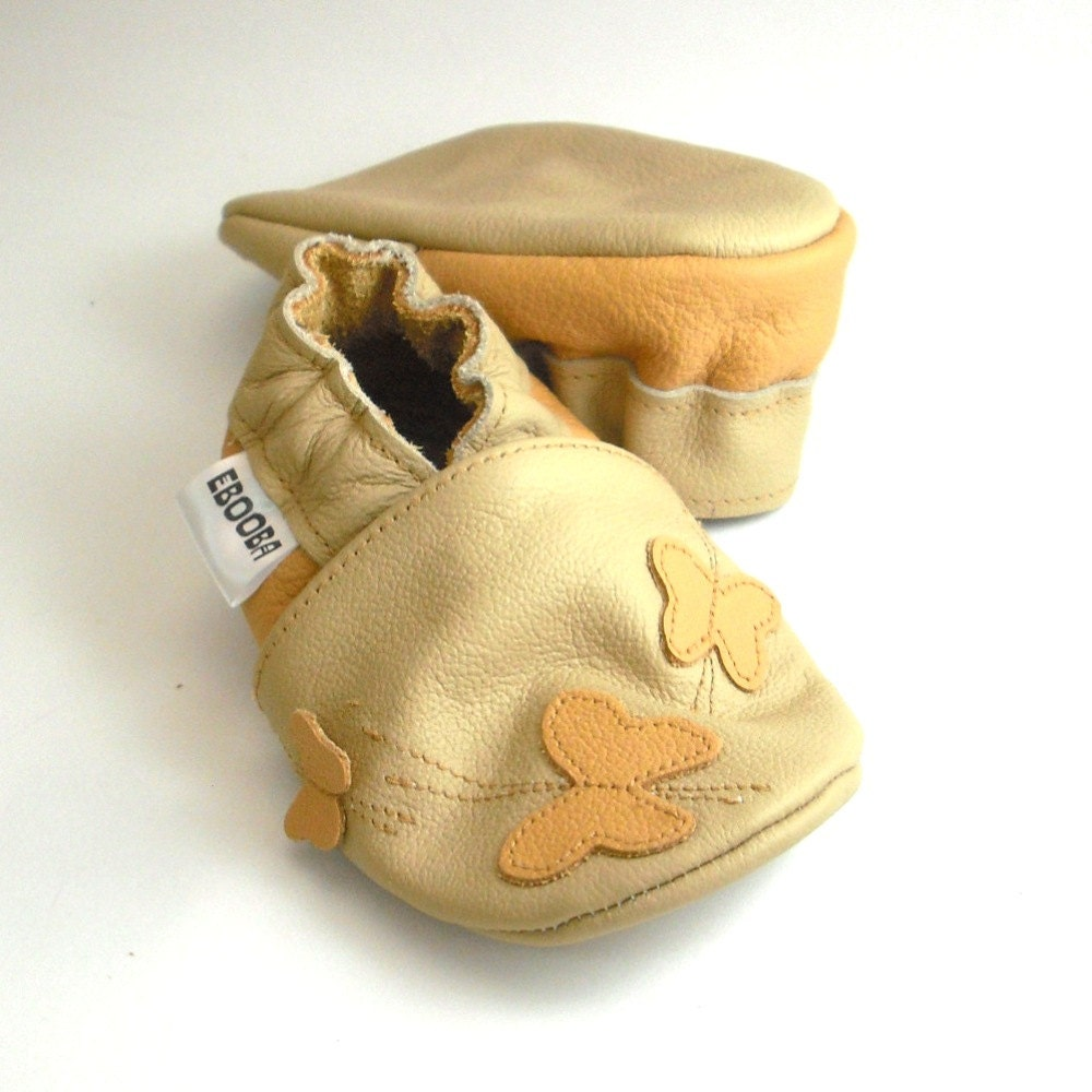 soft sole baby shoes handmade infant t butterfly yellow
