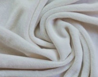 "Organic Unbleached Natural Bamboo Velour Fabric - By the Yard - 36 x 62"" and 280 GSM"