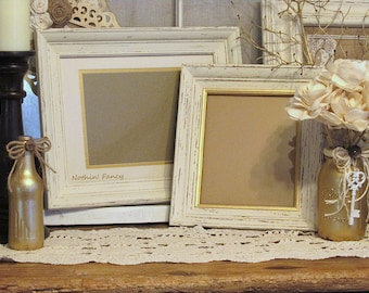 distressed wood frames set of 2 wood frames wedding frame set wood wall - Wedding Picture Frames