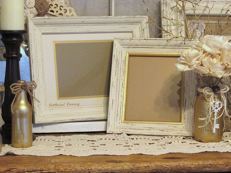 Distressed Wood Frames Set Of 2 Wood Frames Wedding Frame