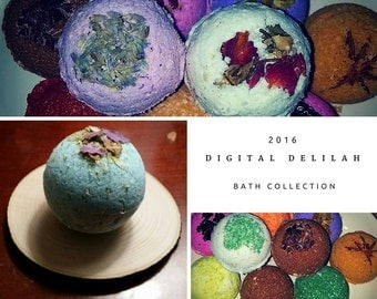 DD's Herbal, Moisturizing TWO Bath Bombs - Reiki Charged