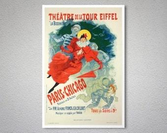 Theatre de la Tour Eiffel by Jules Cheret -  Poster Paper, Sticker or Canvas Print