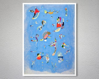 Sky Blue, 1940 by Wassily Kandinsky -  Poster Paper, Sticker or Canvas Print