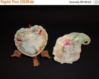 STORE WIDE SALE Porcelain Dishes and Wooden Puzzle Stand  - Collectibles