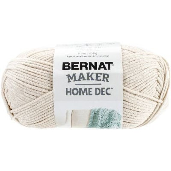 bernat maker home dec yarn in cream from