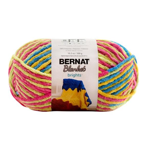 Bernat Blanket Brights Yarn Sweet Sour Variegated Large