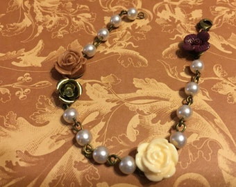 Vintage floral and Pearl
