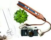 THE MODERN INDIGO    Leather Camera Strap