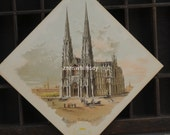 Saint Patrick's Cathedral, New York City, 1800s LARGE Trade Card, Clark's Cotton Sewing Thread COLLECTIBLE  #5
