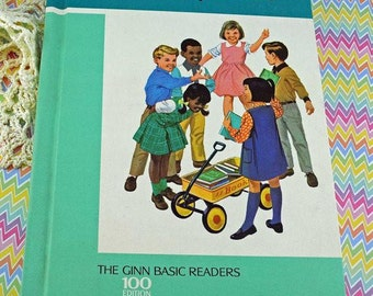 "1966 Ginn Basic Reader ""On Cherry Street"" School Book #63"