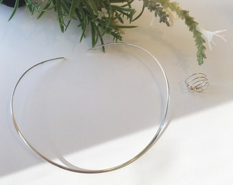 TAHLIA - Sterling Silver Necklace, Minimalist Choker, Silver Choker, Sterling Silver Choker, Sterling Silver, 925 Silver Minimalist Necklace