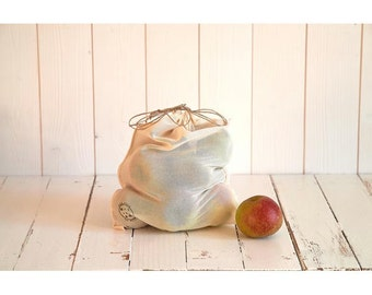 loose big size bag in organic cotton voile