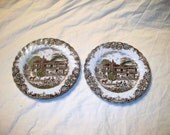 2 JOHNSON BROTHERS Heritage Hall #4411 Bread Butter Plate England Ironstone