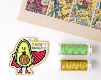 The Almighty Avocado embroidered patch