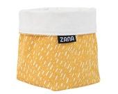 Yellow Specks Soft Pot Fabric Bucket